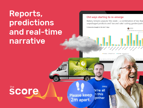 The Score weekly tracker with consumer insights, predictions, reports